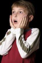 a shocked boy