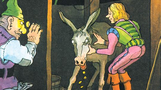 gold donkey grimm